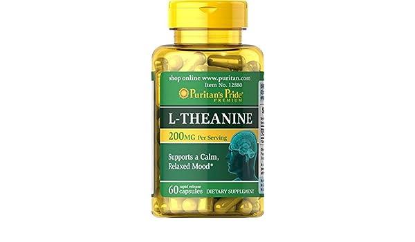 L-Theanina L-Teanina 200 mg 60 caps, ansiedad y menopausia: Amazon.es: Salud y cuidado personal