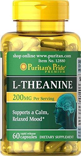 L-Theanina L-Teanina 200 mg 60 caps, ansiedad y menopausia