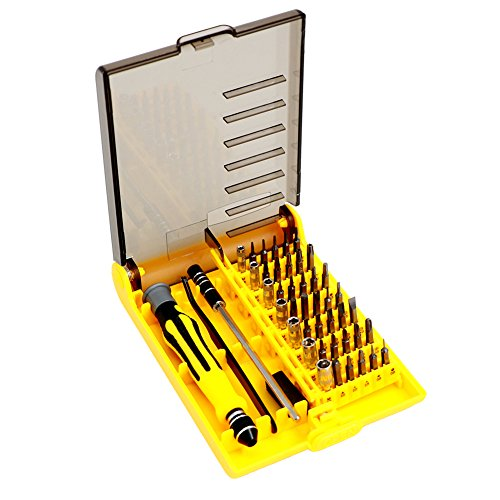 45 in 1 Precision Magnetic Screwdriver Tool Kit, Precise Repair Maintenance Opening Sets with Tweezers & Extension Shaft, Professional Portable Tool for Smart Cell Phones Laptop - Ideal Eyeglass Frames Optics