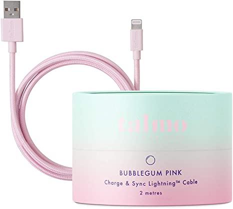 Talmo Smartphone USB Textil de conexión de Carga y Cable: Amazon ...