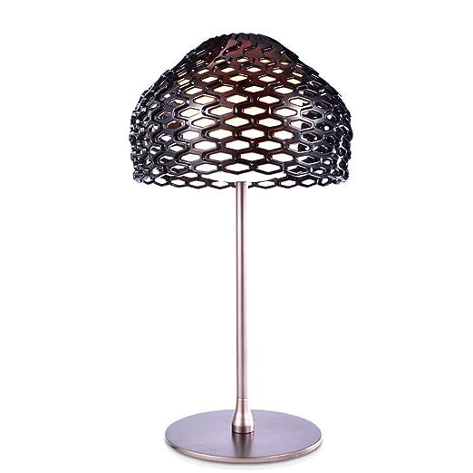 RUIXINBC Lámpara De Mesa Moderna Negro Acrílico Pantalla De ...