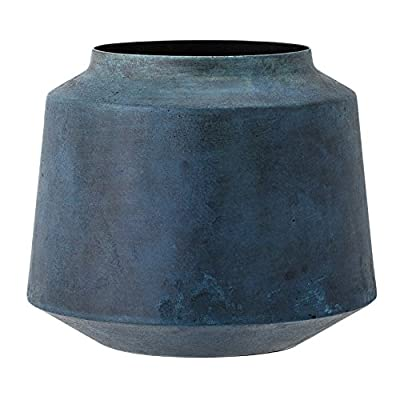 Bloomingville Metal Vase, Marbled Blue Finish - Share your style. Tell your story. Change your home Materials: metal Wipe with damp cloth or Hand wash - vases, kitchen-dining-room-decor, kitchen-dining-room - 51bv10tcCZL. SS400  -
