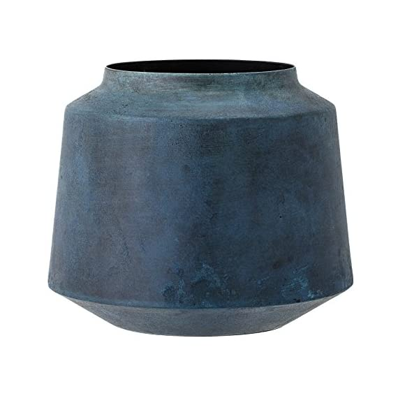 Bloomingville Metal Vase, Marbled Blue Finish - Share your style. Tell your story. Change your home Materials: metal Wipe with damp cloth or Hand wash - vases, kitchen-dining-room-decor, kitchen-dining-room - 51bv10tcCZL. SS570  -