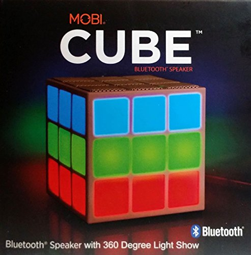 mobi cube bluetooth speaker with light