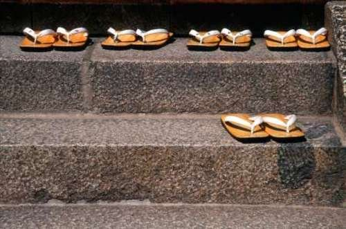 japan-kyoto-zori-sandals-on-steps-of-a-shrine-by-nancy-steve-ross-10-x-16-giclee-canvas-art-print