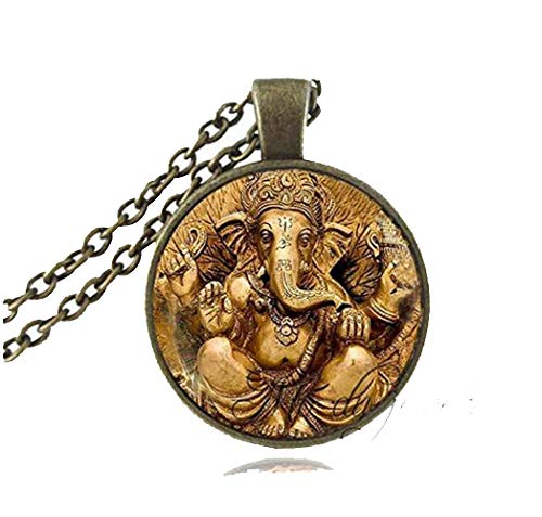 Vintage Ganesha Statue Necklace Hindu Ganapati Vinayaka God Necklace,vintage Lord Ganesha Indian Buddhism Jewelry for Women Men