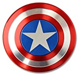 The Anti-Anxiety 360 Spinner Fidget Toy Captain America Shield Helps Focusing Premium Quality EDC for Kids & Adults Stress Reducer Relieves ADHD Anxiety Boredom Ceramic Cube Bearing