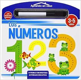 LOS NÚMEROS LIBRO PIZARRA (APRENDO EN CASA): Amazon.es: Vv ...