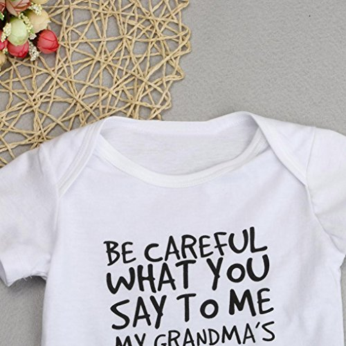 Lanhui Newborn Baby Kid Girl Boy Print Romper Jumpsuit Outfits Sunsuit Clothes