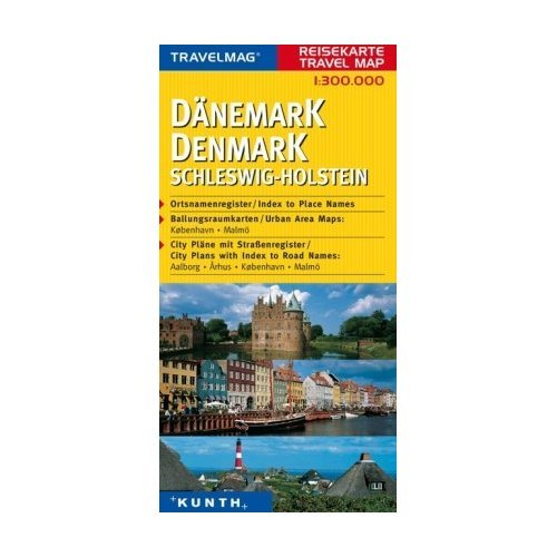 Download Denmark & Schleswig-Holstein 1:300 000 Travel Map with city plans, KUNTH ebook