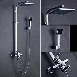 nichel spazzolato Hiendure/® 30 cm ultra sottile acciaio inossidabile soffione doccia soffione quadrato