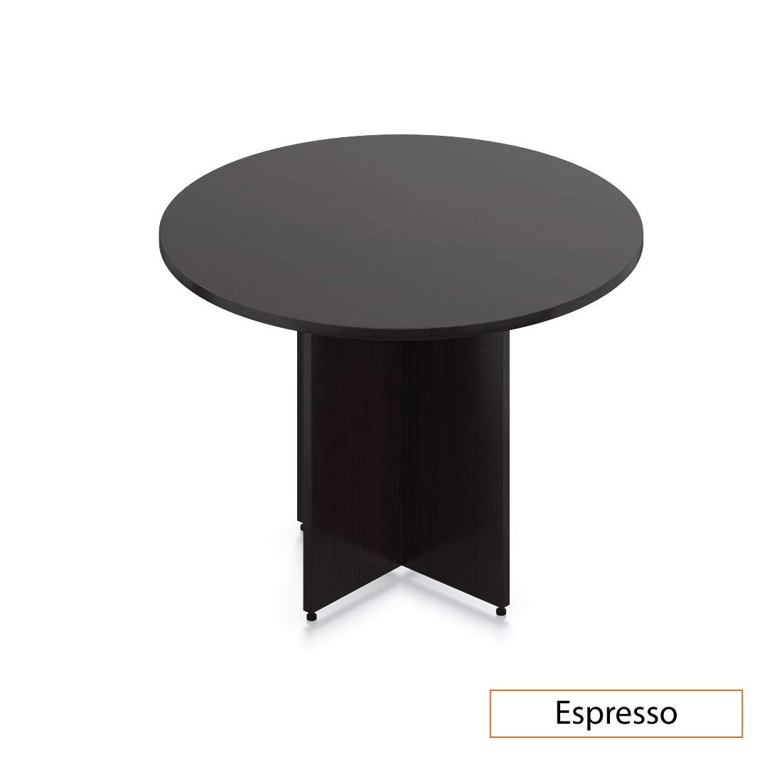 GOF 42'' Round Table (42W x 42D x 29.5H), Cherry, Espresso, Mahogany, Walnut (Espresso)