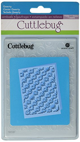 Cuttlebug Cricut A2 Embossing Folder, Qwerty
