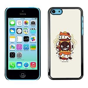 EJOY---Cubierta de la caja de protección la piel dura para el / iPhone 5C / --Resumen de la criatura