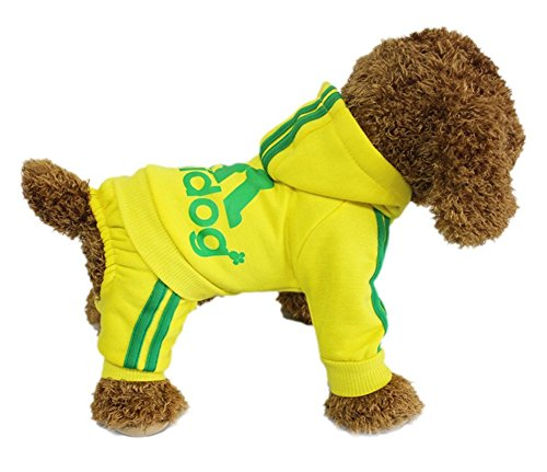 YAAGLE Pet Warm Sweater Hoodie Coat Sweatshirt Clothes Costume Apparel for Dog Puppy (Wizard Of Oz Dog Type)