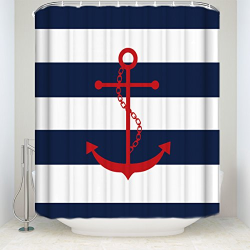 This Red Anchor Shower Curtain Really Pops!