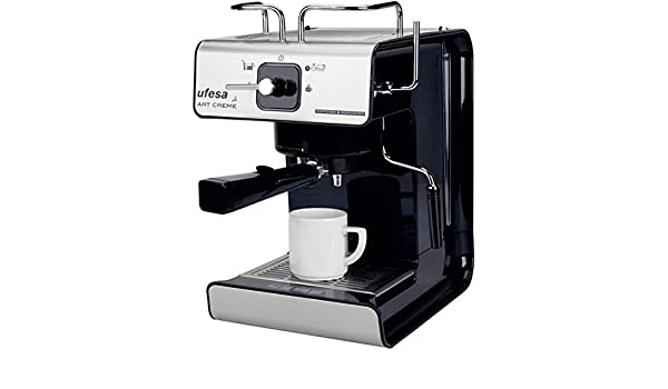 Ufesa - Cafetera Espresso Ce7160, Art Creme, 1150W, 12 Tazas, 15 ...