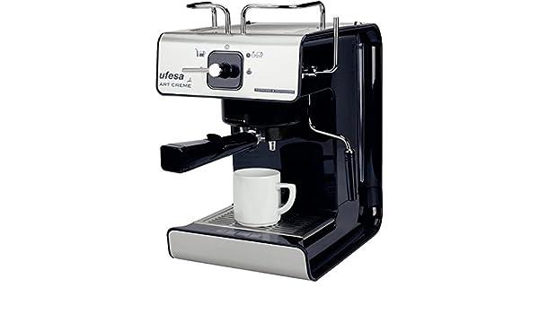 Ufesa - Cafetera Espresso Ce7160, Art Creme, 1150W, 12 Tazas, 15 Bar, Negra: Amazon.es: Hogar
