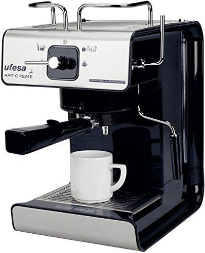 Ufesa - Cafetera Espresso Ce7160, Art Creme, 1150W, 12 Tazas ...
