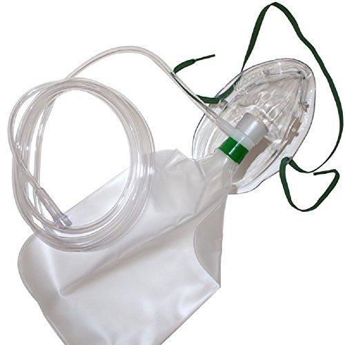 Hudson Erwachsene Sauerstoffmaske Nichtrückatemsystem mit Sicherheitsentlüftung 2,13m Sauerstoffschlauch Modell 1059