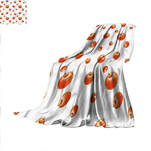 Apple Throw Blanket Watercolor Cameo Fruits Velvet Plush Throw Blanket 80