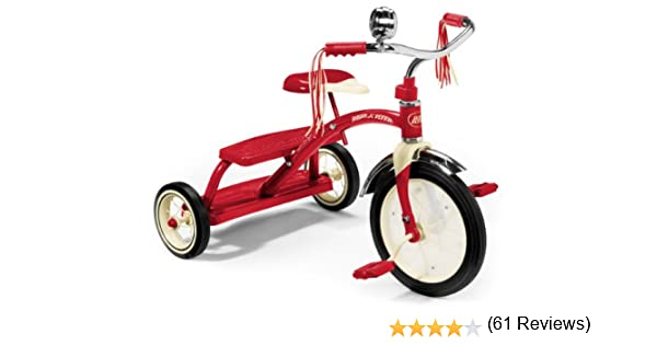 Radio Flyer Classic Dual Deck triciclo, color rojo (48034): Amazon ...