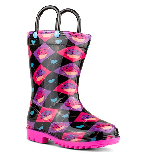 Chillipop Kids Rainboots, Waterproof, Pull Handles, Fun Prints/Colors, All Sizes