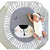 Abreeze Kids Nursery Rug Lion Shaped Play Mat Round