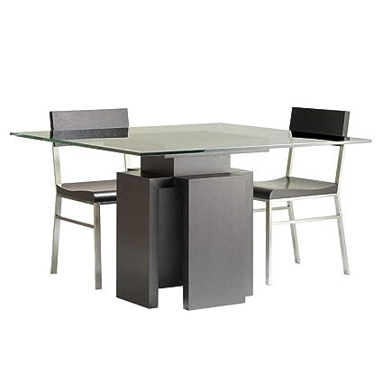 Amazoncom Allan Copley Designs Sebring 48 Inch Square Glass Top