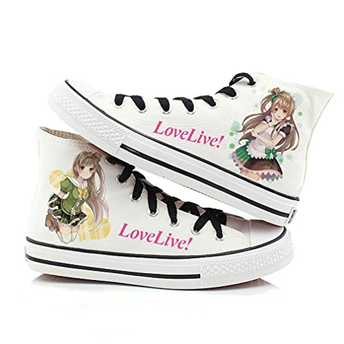 Bromeo Love Live Unisexe Toile Salut-Top Sneaker Baskets Mode Chaussures