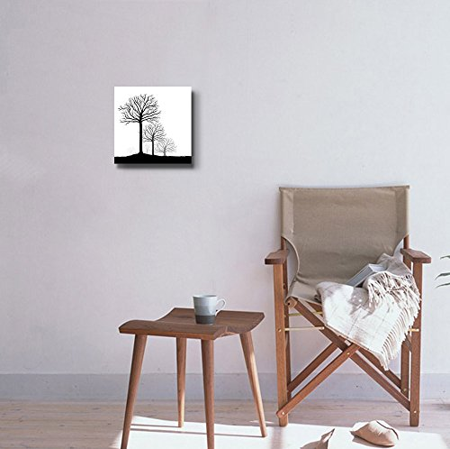 Abstract Black Trees in Clean and Simple Style Wall Decor