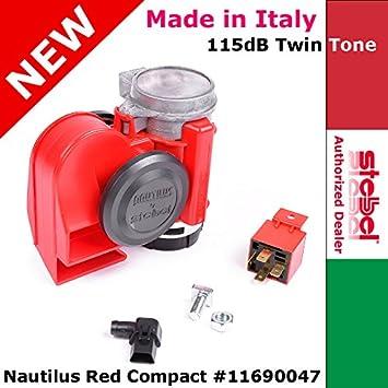 Stebel NAUTILUS Black 12V twin tone air Horn