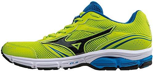 Mizuno Scarpa Running Sneaker Uomo Wave Impetus 3 Lime Royal