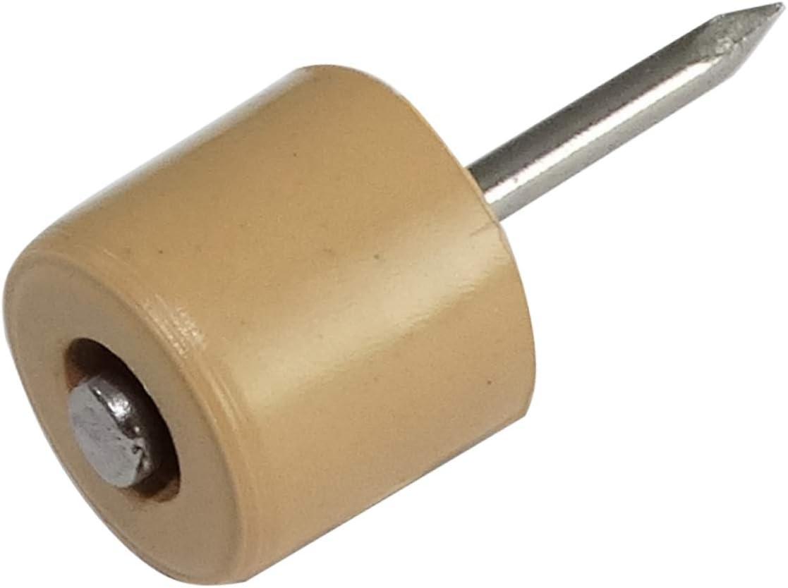AERZETIX 200x Portaestantes soporte para estante con clavo /Ø10mm redondo Virelles de pl/ástico gris C41695
