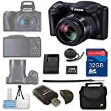 Appliances Packages Samsung Best Deals - Canon PowerShot SX410 IS Digital Camera + 32GB High Speed SD Card + Camera Case + Card Reader + Cleaning Kit - International Version