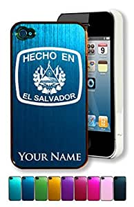 Engraved Aluminum iPhone 4/4S Case/Cover - HECHO EN EL SALVADOR - Personalized for FREE (Click the CONTACT SELLER link after purchase to tell us your case color and engraving request)