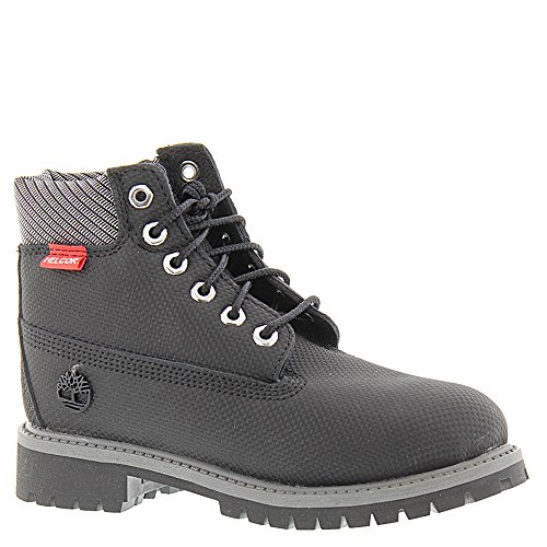 Timberland Kids Boy's 6'' Premium Boot (Big Kid) Black Relief Helcor Boot 4 Big Kid M by Timberland