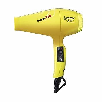 Babyliss Pro - Secador luminoso ionico, 6 ajustes de calor y velocidad, 2100 W, color amarillo: Amazon.es: Salud y cuidado personal