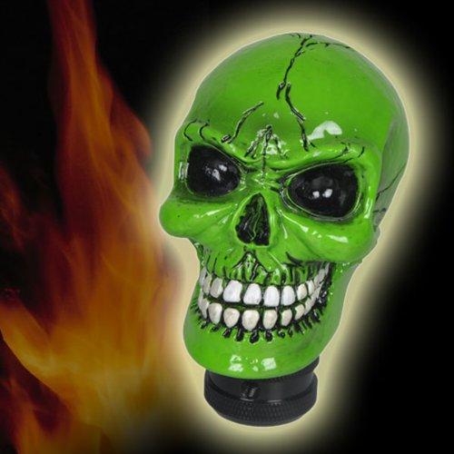 Green Ghost Part (D1 Universal Fit Green Ghost Rider Skull Head Shift Knob (BRAND NEW))