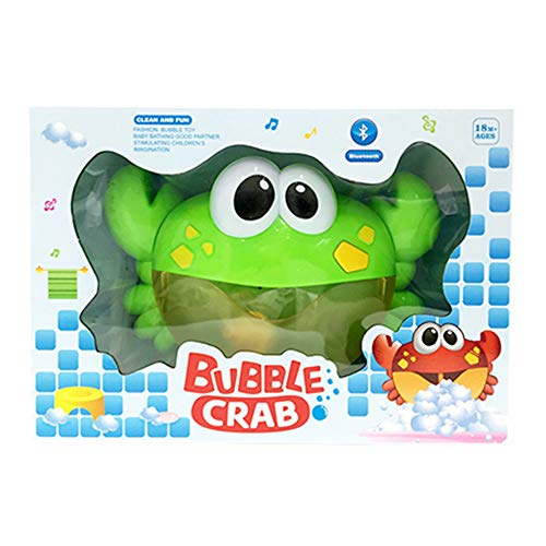 CHILEELOVE Bluetooth Crab Bubble Machine,Bath Bubble Maker,Automatic Bubble Blower Machine for Children Baby Boys Girls Funny Washing Toy,Bathroom Music Plaything Bauble,Upgraded Charging Version
