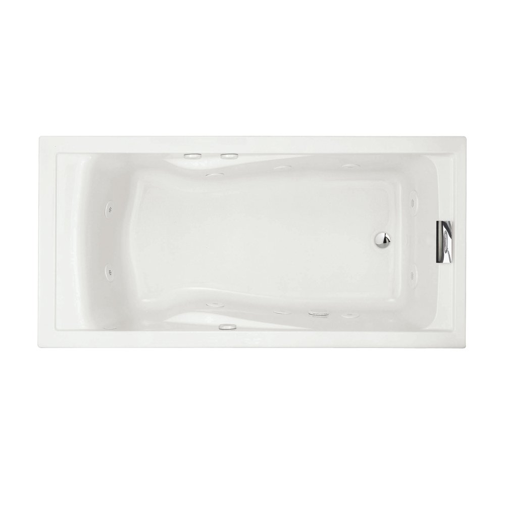 American Standard 7236VC.020 Evolution Deep Soak Whirlpool Bath Tub with EverClean and Hydro Massage System I, White, 6-Feet by 36-Inch by American Standard