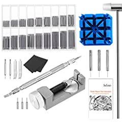 """Product Feature: All-Metal Watch Band Link Remover: -Fits bands up to 30mm in width, comes with 3 extra Pins Color: Silver  material: Steel Size: approx. 2.6"""" * 1"""" * 1"""" / 70 mm x 25 mm x 25 mmSpring Bar Tool Kit  -Spring bar link pin remover ..."""