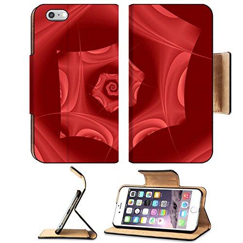 Deluxe Digital Spa (MSD Premium Apple iPhone 6 Plus iPhone 6S Plus Flip Pu Leather Wallet Case IMAGE ID: 968184 Fractal reproduction of Rose Petals)