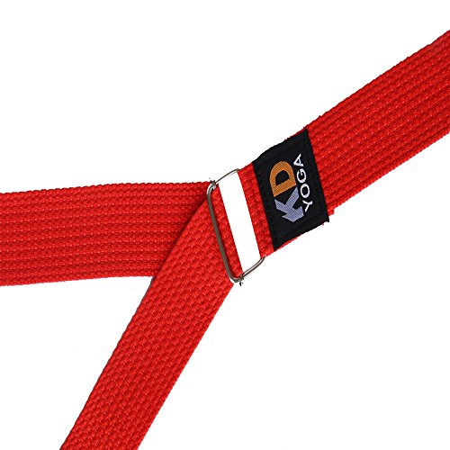 KD Yoga Fitness Exercise Strap Pack of 2 Orange D-Ring, 6ft for Stretching, Dance, Pilates and Physical Therapy Adjustable Buckle D Ring Buckle Yoga Belt Durable Cotton Exercise Straps