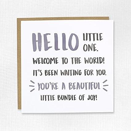 Bienvenido al mundo nuevo bebé Tarjeta de felicitación - Boy ...