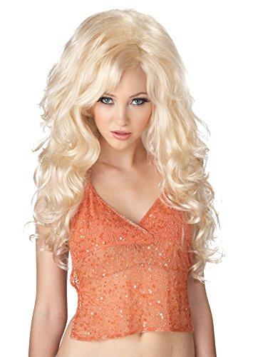 (UHC Sexy Long Wavy Blonde Bombshell Wig Halloween Adult Costume)