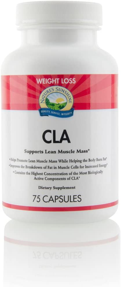 Nature s Sunshine CLA, 75 Softgels Supports Weight Management, Sustains Lean Muscle Mass, and Enhances The Body s Ability to Burn Fat
