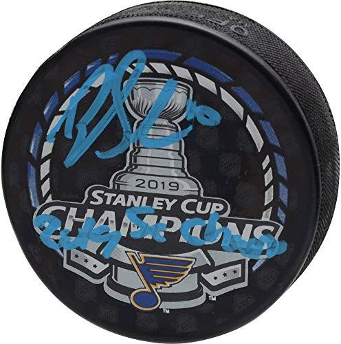 Brayden Schenn St. Louis Blues 2019 Stanley Cup Champions Autographed Stanley Cup Champions Logo Hockey Puck with