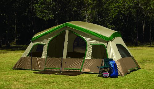 Amazon.com  Texsport Sequoia Pass Three-Room Family Cabin Tent (Tan/Green 19-Feet X 9-Feet X 86-Inch)  Sports u0026 Outdoors & Amazon.com : Texsport Sequoia Pass Three-Room Family Cabin Tent ...