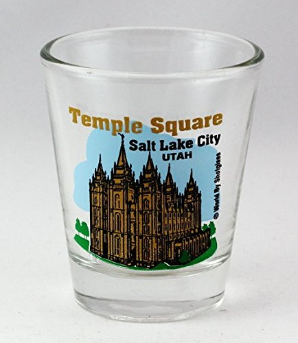 Salt Lake City Temple Square Shot Glass